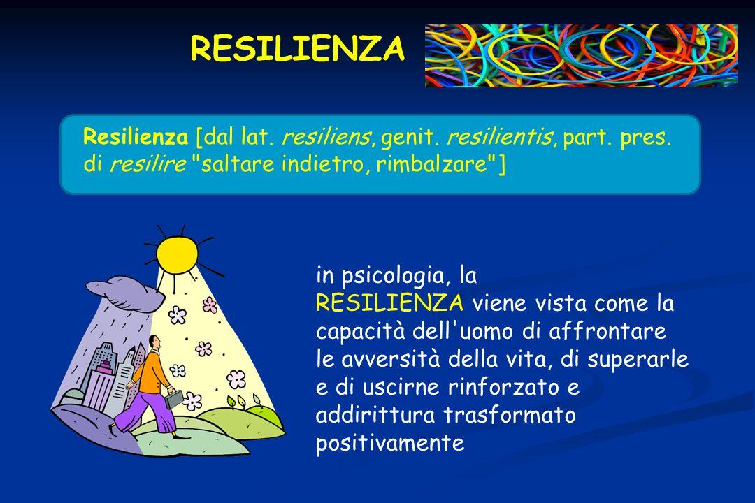 RESILIENZAResilienza [dal lat. resiliens, genit. resilientis, part. pres. di resilire saltare indietro, rimbalzare ]